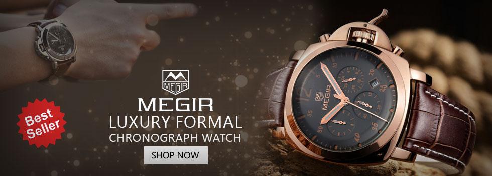 MEGIR Relogio Muscilano AAA Quality Chronograph Men's Watch