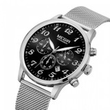 MEGIR Mens Classic 6 hands Chronograph Exclusive Mesh Chain Watch