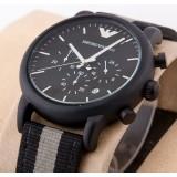 Emporio Armani Luigi Chronograph Black Analog Men's Watch AR-1948