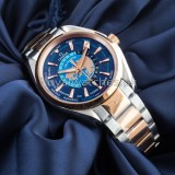 Omega Seamaster Aqua Terra Worldtimer Master Chrononometer Blue Dial