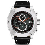 Original SINOBI dual time Men Chronograph Watch