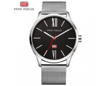Mini Focus Brand Thin Line Quartz Watch With Stainless Steel Sheffer Chain