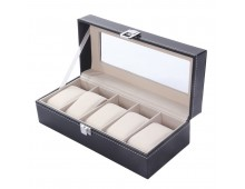 Luxury Classic Leather Watch Case with 5 Grids