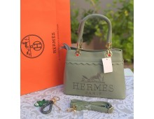 Hermes Mercer Medium Pebbled Leather Belted Satchel