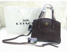 Coach Mercer Medium Pebbled Leather Belted Satchel