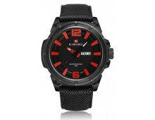 Naviforce Day & Date Nylon Strap Military Quartz Sports Men Wrist Watch