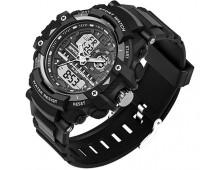 Original SANDA Fashion Dual Time Men's Waterproof 3ATM 30m Dive Chrono Watch