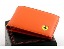 Ferrai Red Leather Wallet