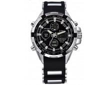 BWC Dual Time Analog + Digital 2 tone watch