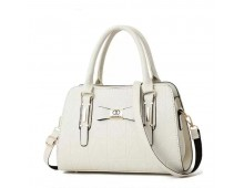 Channel Cross Body Bag With Half Chain Half Belt Synthetic Leather Material