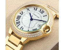 Cartier Ballon Bleu full gold Quartz
