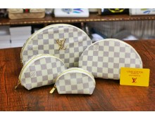 Louis Vuitton Mercer Medium Pebbled Leather Belted Satchel