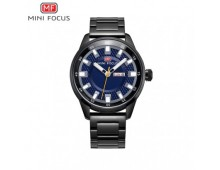 MINIFOCUS Men's Classic Stainless Steel Fashion Watch Calendar Week Waterproof Business Luxury High Quality Quartz Brand Watches