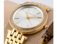 MICHAEL KORS Darci Glitz Gold Dial Pave Bezel Ladies Watch