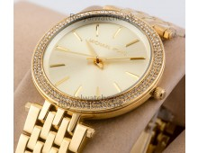 MICHAEL KORS Darci Glitz Gold Dial Pave Bezel Ladies Watch