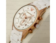 Emporio Armani Chronograph whiteSilicone Watch