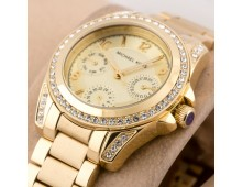 MICHAEL KORS Lexington Crystal Pave Dial Ladies Chronograph Watch
