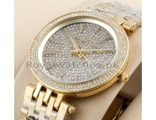 MICHAEL KORS Oversized Layton Pavé yellow Gold-Tone Watch