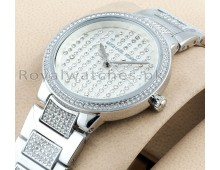 MICHAEL KORS CATLIN WOMEN'S WATCH Diamond style silver