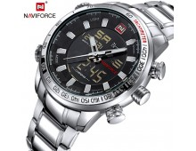 Original Naviforce Luxury Dual Time With Complimentary Gift Box