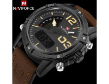 Naviforce Military Grade Quartz Men Day & date Original Naviforce Military Grade Quartz Dual Time Chronograph With Complimentary Gift Box