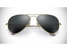 RAY-BAN AVIATOR SOLID GOLD SUNGLASSES