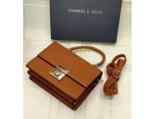 Charles Keith cross body bag Wit brand paper bag