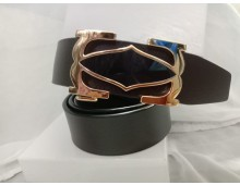 CARTIER Exclusive synthetic Leather Belt (AAA)